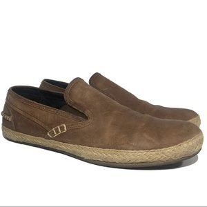 COLE HAAN Seawall Slip On Loafers Brown Leather